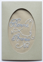 kit broderie, broderie, point tige, carte voeux brodée, kit broderie aiguille
