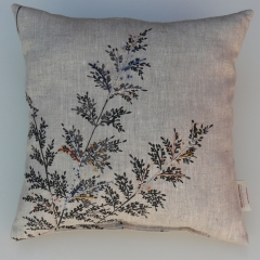 coussin, coussin brodé, point noeud, broderie coussin
